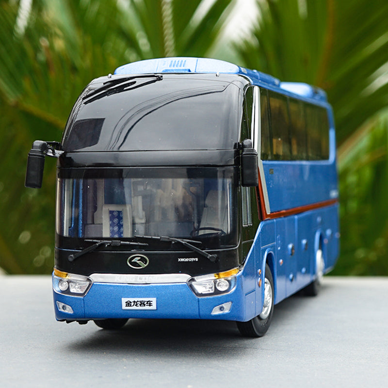 Top quality classic 1:38 Xiamen Gold Dragon Longwei Alloy Bus Model with small gift