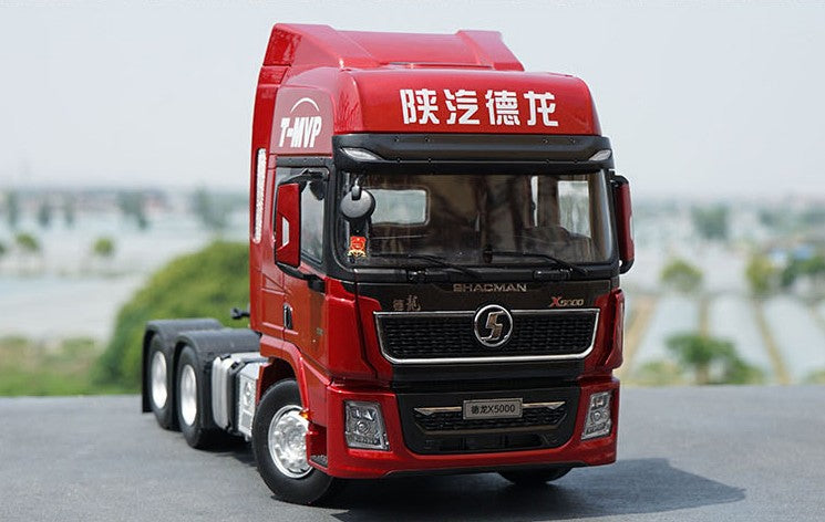 Original factory authentic 1:24 shaanxi SXQC Auto Deron Delong X3000 WP13 diecast alloy heavy truck semi-trailer tractormodels for gift, collection