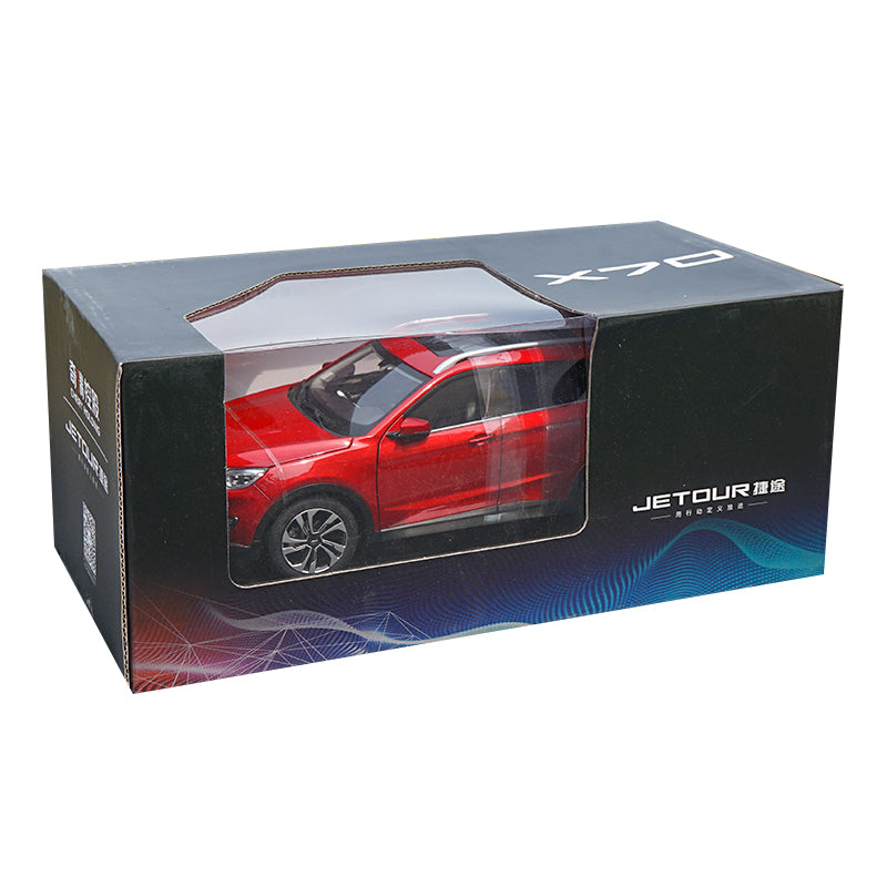 Original factory collectible 1:18 Chery JETOUR X70 simulation zinc alloy diecast SUV car model for promotional gift