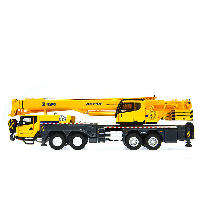 1:50 Xcmg Xct75 75ton Mobile Heavy Crane Metal Truck Model Alloy crane engineering model