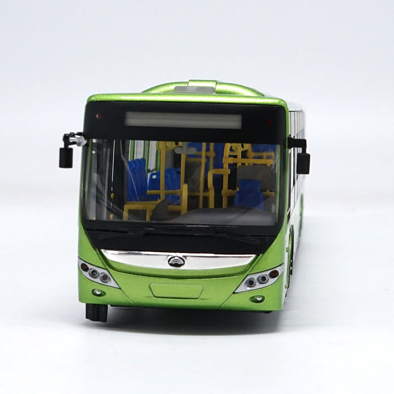 1:42 Scale Green Diecast YuTong E12 Pure Electric Bus Model