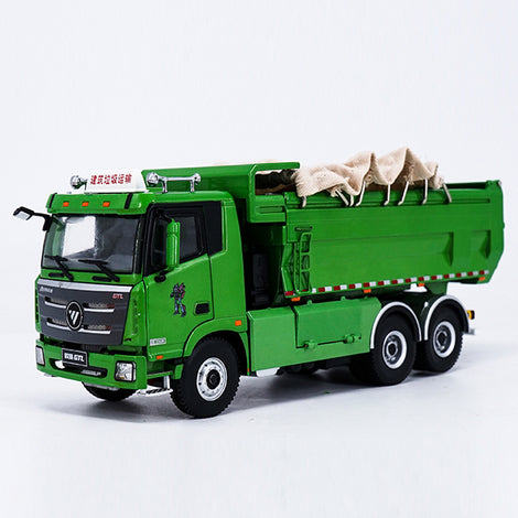 Original Authorized Authentic 1:36 Foton Daimler Auman GTL dump truck model Diecast toy dumper model for Christmas gift,collection