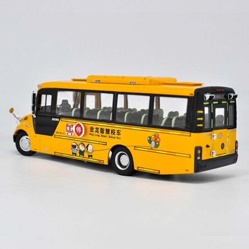 1:38 zinc alloy golden dragon School Bus XMQ6900BSD Bus miniature Model with small gift