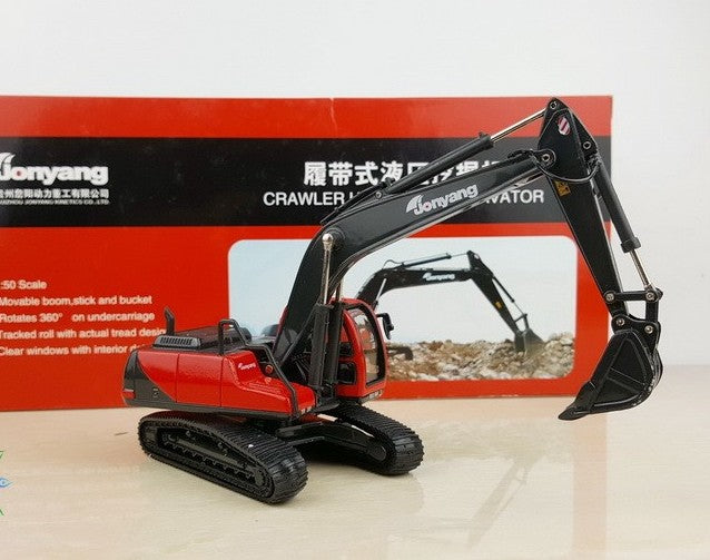 High quality collectible 1:50 jonyang crawler-type excavator Construction machinery model for Christmas gift