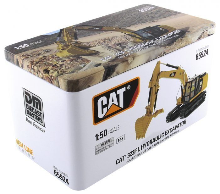 DM85924 1/50 Cat 323f L Hydraulic Excavator With Thumb Diecast Toy Model