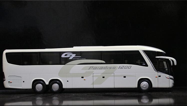 1:42 Scale Marcopolo Paradiso 1200 G7 Bus Model Diecast very Rare White version