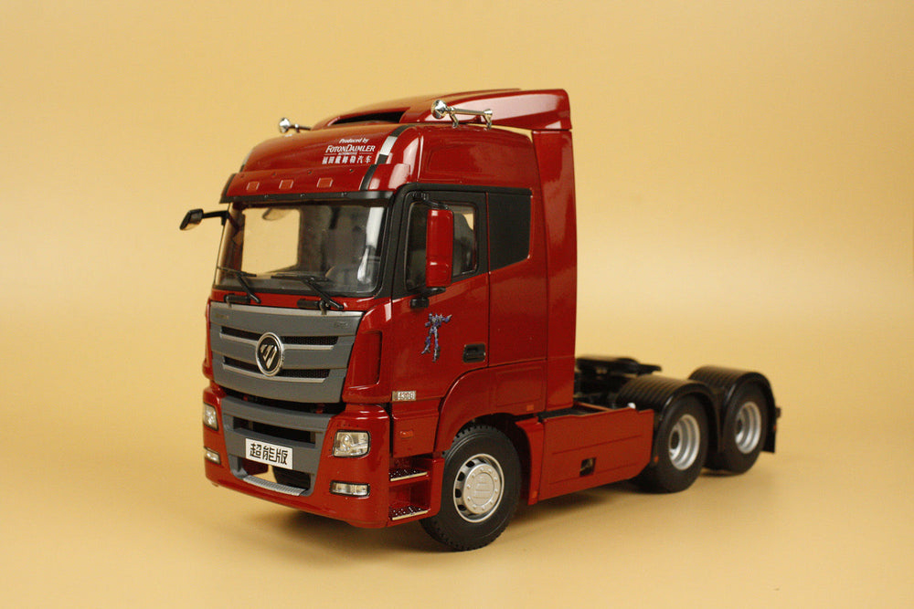 Original Alloy Model Gift 1:24 Scale Foton Dailmer Auman GTL Truck Tractor Trailer Vehicles Diecast Toy Model for Decoration