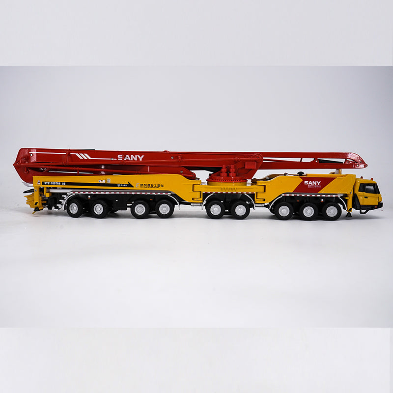 1:50 Sany 86m Concrete pump cement truck model, diecast Construction Machinery Model
