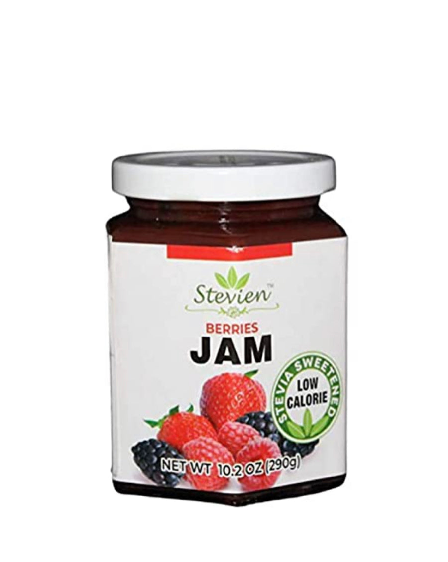 3 Jars of Stevien Jam | Keto Friendly | Made With Organic Stevia| Low Calorie | Vegan, Nut-Free, and Gluten Free |