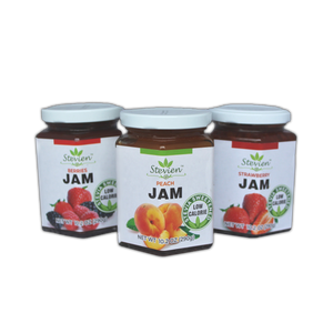 SWEET KETO STRAWBERRY, PEACH, AND MIXED BERRY JAM 3-PACK - NO ADDED SUGAR, LOW CARB