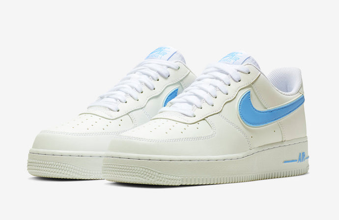 The Nike Air Force 1 '07 3 Available in White/University Blue