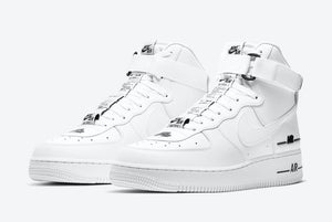 This Clean White/Black Nike Air Force 1 High Comes With Dual Branding