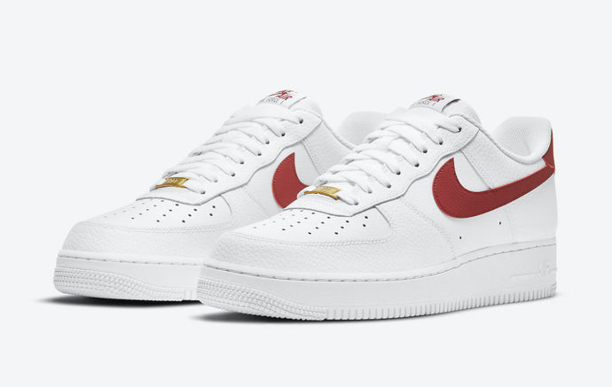 "Nike Air Force 1 Low ""Team Red"" With Basketball Textured Finishes"