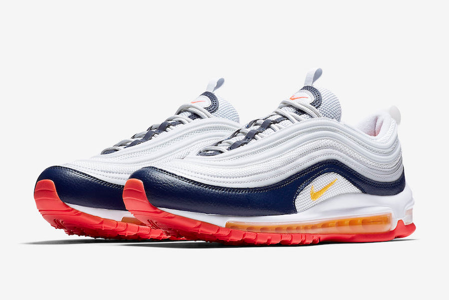 on sale c8205 68ede Nike Air Max 97 Highlighted in Laser Orange and Racer Pink