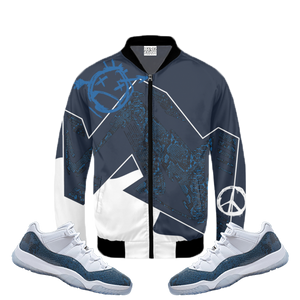 Have Faith (SnakeSkin Navy 11's) Bomber Jacket