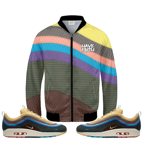 Maxed (Sean Wotherspoon x Nike Air Max 97/1) Bomber Jacket - HaveFaithClothingCo