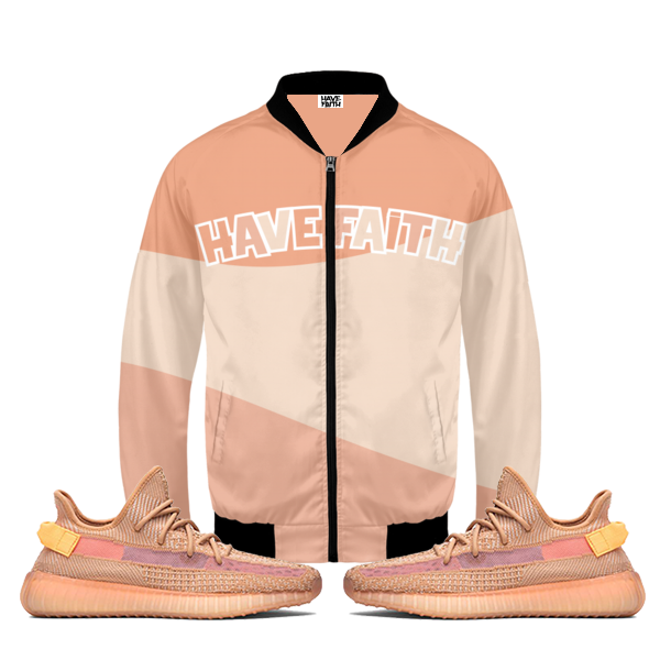 Have Faith (Yeezy 350 Boost Clay) Bomber Jacket
