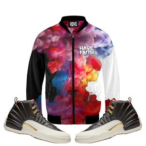 Through The Smoke (CNY 12's) Bomber Jacket - HaveFaithClothingCo