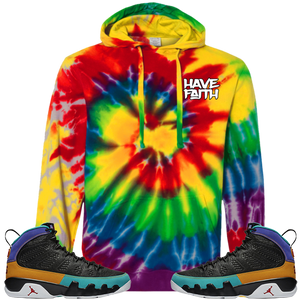 Have Faith (Dream It, Do It 9's) Tie-Dyed Pullover Hoodie - HaveFaithClothingCo