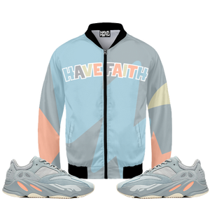 Faith (Yeezy 700 Inertia) Bomber Jacket - HaveFaithClothingCo