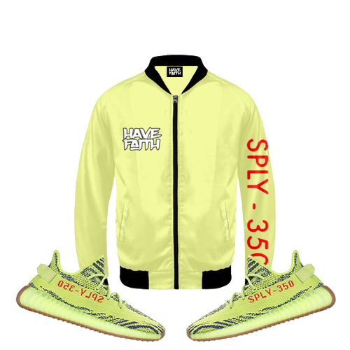 Have Faith (Yeezy 350 Boost Semi Frozen Yellow) Bomber Jacket