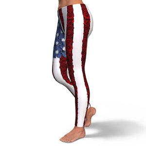 Rose Flag Leggings - Shop Men, Women, Kids clothing and accessories To Match Your Kicks online