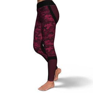 Pink Hexed Camouflage Yoga Pants
