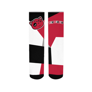 Have Faith (Tinker University Red 3's) Socks - HaveFaithClothingCo