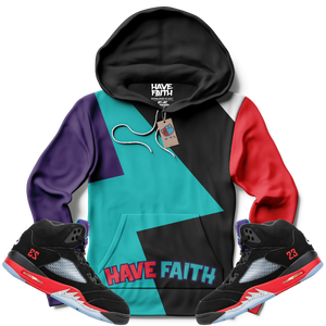 Have Faith (Top 3 Retro 5's) Hoodie - Shop Men, Women, Kids clothing and accessories To Match Your Kicks online