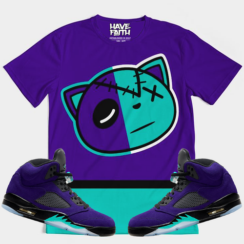 HAVE FAITH (ALTERNATE GRAPE RETRO 5'S) T-SHIRT - HaveFaithClothingCo