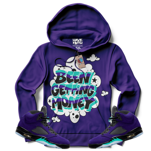 Been Getting Money (ALTERNATE GRAPE RETRO 5'S) Hoodie - Shop Men, Women, Kids clothing and accessories To Match Your Kicks online