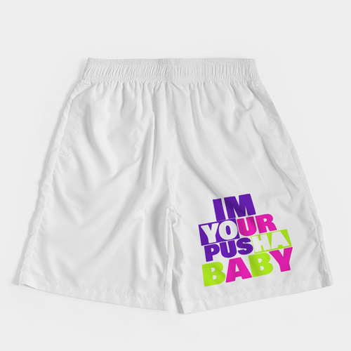 Im Your Pusha Baby (Alt Bel-Air Retro 5's) Jogger Shorts - HaveFaithClothingCo