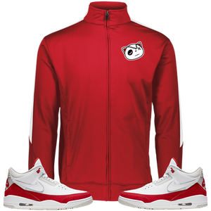 Have Faith (Tinker University Red 3's) Fleece - HaveFaithClothingCo