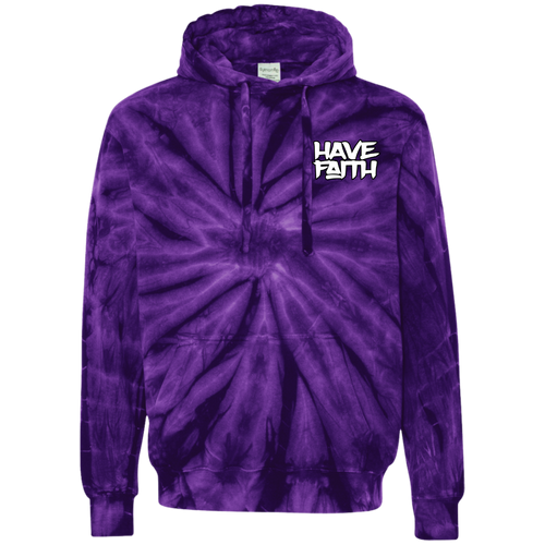 Have Faith (Purple Lobster SB's) Tie-Dyed Pullover Hoodie