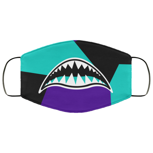 COLOR BLOCK RAWR (ALTERNATE GRAPE RETRO 5'S) Face Mask - HaveFaithClothingCo