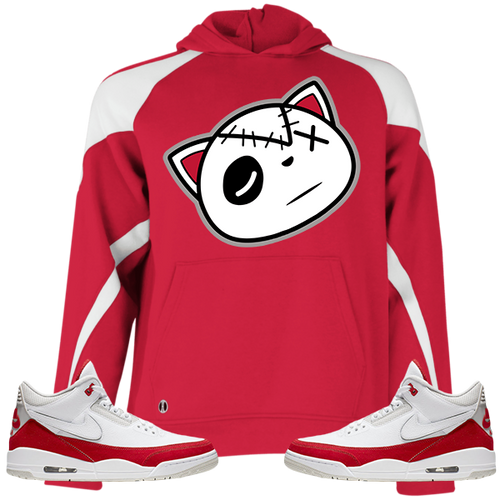 Have Faith (Tinker University Red 3's) Kids Hoodie - HaveFaithClothingCo