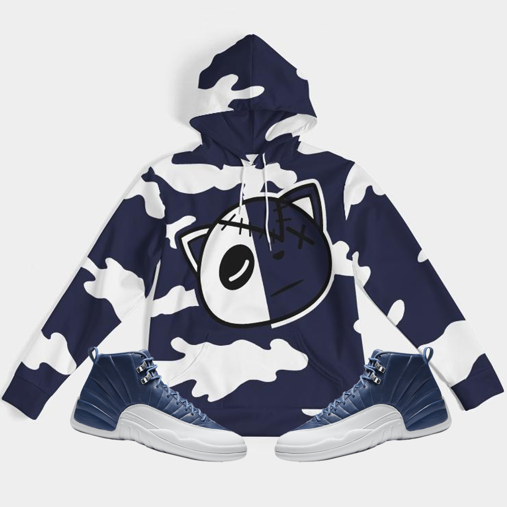 Have Faith Camo (Indigo Stone Blue Retro 12's) Hoodie - Shop Men, Women, Kids clothing and accessories To Match Your Kicks online