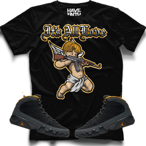 It's All Love  (Air Jordan 9 University Gold) T-Shirt - Shop Men, Women, Kids clothing and accessories To Match Your Kicks online