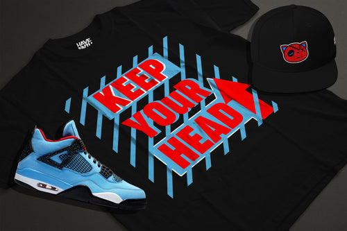 Keep Your Head Up (Cactus Jack 4's) T-Shirt - HaveFaithClothingCo