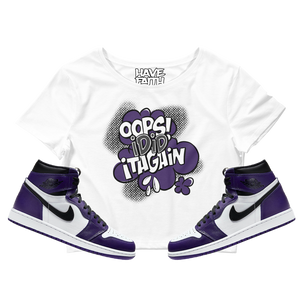 Oops I Did It Again (Court Purple Retro 1's) Crop Top