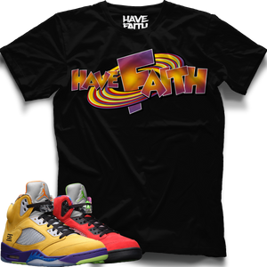 SpaceJam HF (What The Retro 5's) T-Shirt - Shop Men, Women, Kids clothing and accessories To Match Your Kicks online