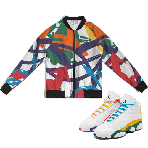 Arrows Pointed (Playground Retro 13's) Bomber Jacket - HaveFaithClothingCo