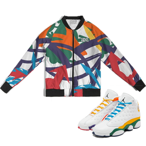 Arrows Pointed (Playground Retro 13's) Bomber Jacket - Shop Men, Women, Kids clothing and accessories To Match Your Kicks online