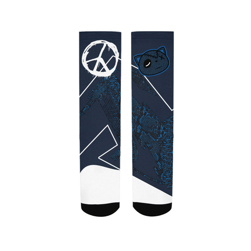 Have Faith (SnakeSkin Navy 11's) Socks