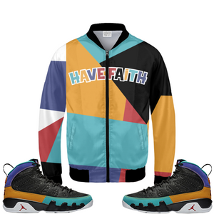 Have Faith (Dream It, Do It 9's) Bomber Jacket - Shop Men, Women, Kids clothing and accessories To Match Your Kicks online