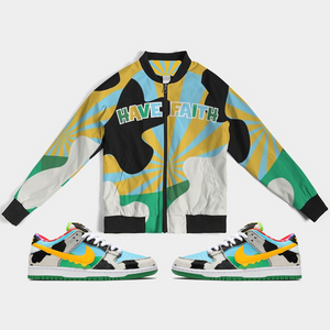 Have Faith (Ben & Jerry Nike SB) Bomber Jacket - Shop Men, Women, Kids clothing and accessories To Match Your Kicks online