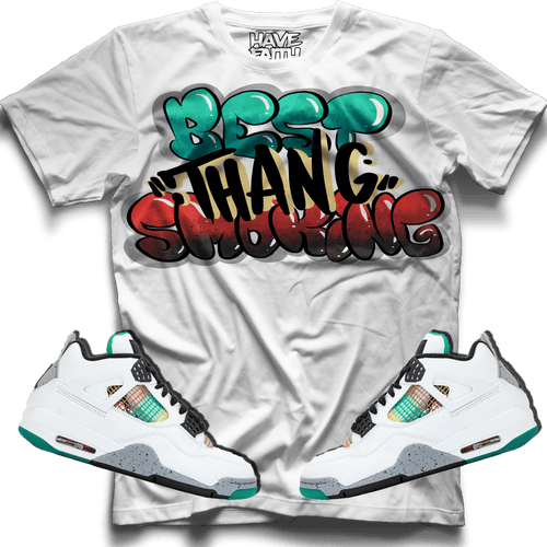 Best Thang Smoking (Rasta Retro 4's) T-Shirt - HaveFaithClothingCo