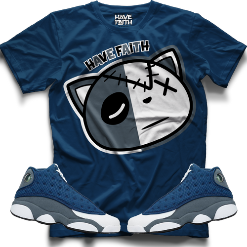 Have Faith (Flint Retro 13's) Blue T-Shirt - HaveFaithClothingCo