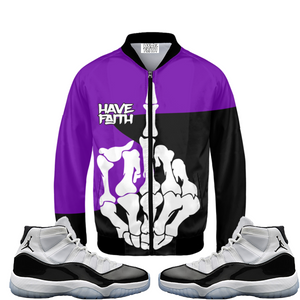 Fu*K You (Concord 11's) Bomber Jacket - HaveFaithClothingCo