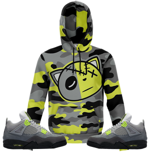 Camo Faith (Neon Air Max 95 Retro 4's) Kids Hoodie